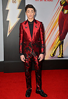 LOS ANGELES, CA. March 28, 2019: Asher Angel at the world premiere of Shazam! at the TCL Chinese Theatre.<br /> Picture: Paul Smith/Featureflash