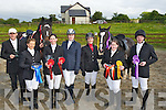PRIZES: Eagle Lodge Equestrain Centre Gortatlea who were champions at the Stradvalley @ Riding Club Festival on last weekend as they came home with first and more rosesette on Monday evening, at the centre on Tuesday evening with their prizes L-r: Reidin Coughlin and Louise Prendergast. Front l-r:John and Jacqueline, Higgins, Avril Geary, Reidin Coughlan, Louise Prendergast Brenda Moriarty and Damien Fitzgerald.