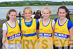 Sive RC rowers threading the water at the Callinafercy regatta at Ballykissane Pier on Sunday l-r: Patricia O'Sullivan, Laura Stanisauskaite, Kate O'Sullivan and Stacey O'Sullivan