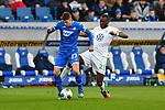 15.02.2020, PreZero-Arena, Sinsheim, GER, 1. FBL, TSG 1899 Hoffenheim vs. VFL Wolfsburg, <br /> <br /> DFL REGULATIONS PROHIBIT ANY USE OF PHOTOGRAPHS AS IMAGE SEQUENCES AND/OR QUASI-VIDEO.<br /> <br /> im Bild: Andrej Kramaric (TSG Hoffenheim #27) gegen Josuha Guilavogui (#23, VfL Wolfsburg)<br /> <br /> Foto © nordphoto / Fabisch