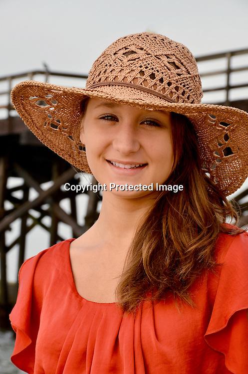 Teenage woman enjoying the beach