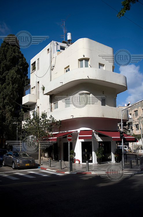 A Bauhaus building in the White City of Tel Aviv. The White City is a UNESCO World Cultural Heritage site.