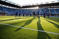 San Jose, CA - Wednesday May 17, 2017: San Jose Earthquakes warmup prior to a Major League Soccer (MLS) match between the San Jose Earthquakes and Orlando City SC at Avaya Stadium.