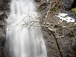 Bridal Veil Falls along U.S. 50 in winter, Fresh Pond, El Dorado County, Calif.