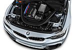 Car stock 2018 BMW M4 Base 2 Door Coupe engine high angle detail view