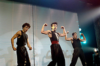 Montreal - Canada - File Photo - Marc Drouin et les Echalottes perform their show VIS TA VINAIGRETTE at the Spectrum, September 29, 1987.