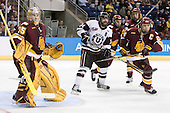 Kenny Reiter (Duluth - 35), Andrew Buote (Union - 14), Mike Montgomery (Duluth - 24) - The University of Minnesota-Duluth Bulldogs defeated the Union College Dutchmen 2-0 in their NCAA East Regional Semi-Final on Friday, March 25, 2011, at Webster Bank Arena at Harbor Yard in Bridgeport, Connecticut.