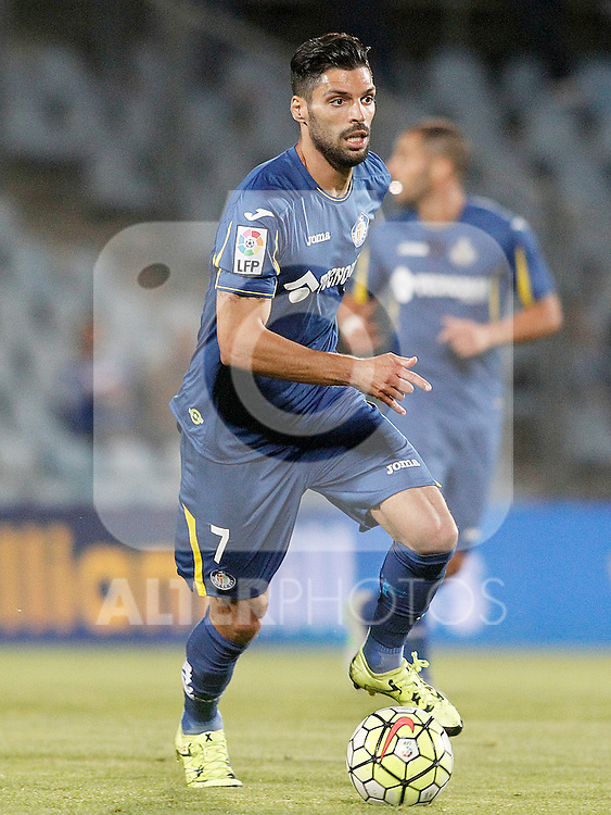 Getafe's Angel Lafita during La Liga match.September 18,2015. (ALTERPHOTOS/Acero)
