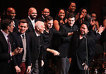 Howard McGillin, Michael Arden, Dick Latessa, Jarrod Emick, Matt Cavenaugh & Stafford Arima with Company during the Curtain Call for the Manhattan Concert Production of 'Ragtime - In Concert' at Avery Fisher Hall in New York City on 2/18/2013