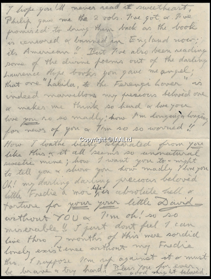 BNPs.co.uk (01202 558833)<br /> Pic: IAALtd/BNPS <br /> <br /> ***Use Full Byline***<br /> <br /> Page three of Edward VIII letter. <br /> <br /> A remarkable letter written by controversial monarch Edward VIII that exposes him as an ungrateful, sexist and racist prince has come to light.<br /> The Prince of Wales, who later became the first King to voluntarily abdicate, told of the 'miserable and loathsome' time he was having on a Caribbean cruise.<br /> He visited Barbados in 1920 in what was supposed to be a diplomatic trip of the British Empire but he described the tropical paradise as a 'bum place'.<br /> The Royal reported the local scenery as being 'ugly' and he found the 'coloured population' to be 'revolting'.<br /> The letter is being sold on Saturday in London.