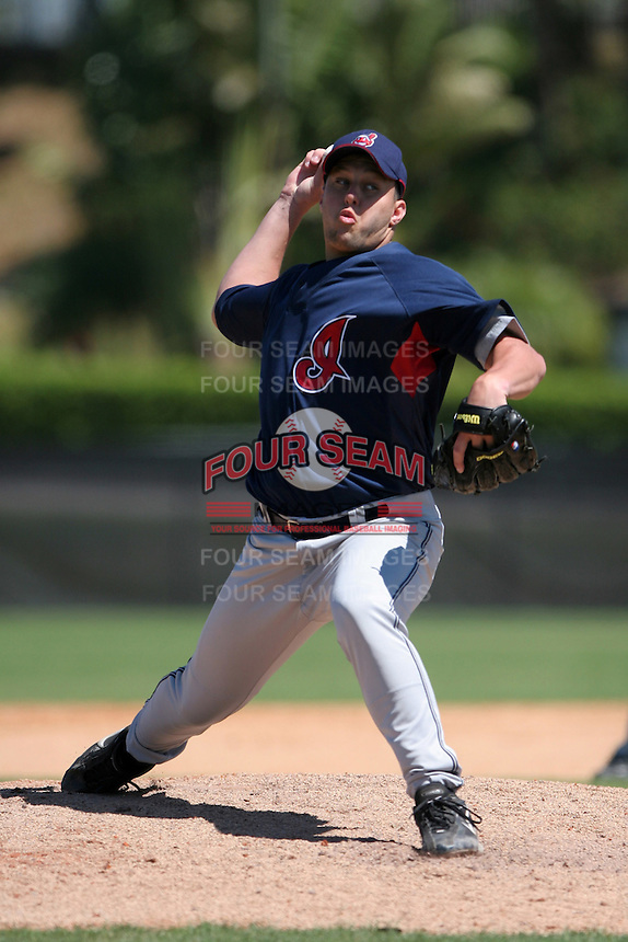 Cleveland Indians minor leaguer Michael Finocchi during Spring Training at the Chain of Lakes Complex on March 17, 2007 in Winter Haven, Florida.  (Mike Janes/Four Seam Images)