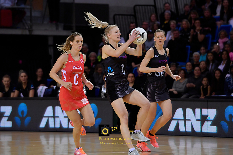 Silver Ferns' Shannon Francois in action during the International Netball - NZ Silver Ferns v England Roses at Te Rauparaha Arena, Porirua, New Zealand on Thursday 7 September 2017.<br /> Photo by Masanori Udagawa. <br /> www.photowellington.photoshelter.com