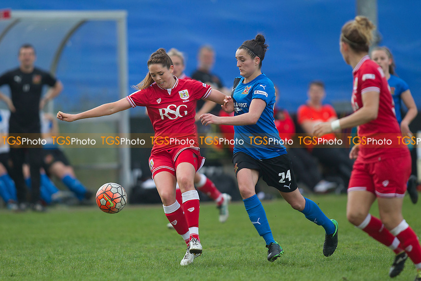 Chelsea Flanagan (Sheff W) during Sheffield FC Ladies vs Bristol City Women, FA Women's Super League FA WSL2 Football at the Coach and Horses Ground on 22nd May 2016