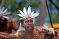Aurukun Dancer 1,  Laura Aboriginal Dance Festival, Laura, Cape York Peninsula, Queensland, Australia.