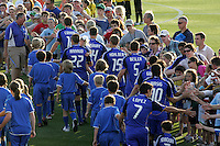 Wizard players shaking hands with fans pre game..Columbus Crew defeated Kansas City Wizards 2-0 at Community America Ballpark, Kansas  City, Kansas.