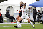 03 November 2010: Florida States Lindsey Rice (7) and Wake Forest's Jackie Logue (behind). The Wake Forest University Demon Deacons defeated the Florida State Seminoles 3-1 at Koka Booth Stadium at WakeMed Soccer Park in Cary, North Carolina in an ACC Women's Soccer Tournament Quarterfinal game.
