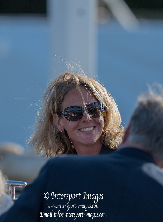 Henley-on-Thames. United Kingdom.  Hollandia  Roeiclub, coach. 2017 Henley Royal Regatta, Henley Reach, River Thames. <br /> <br /> <br /> 18:48:16  Saturday  01/07/2017   <br /> <br /> [Mandatory Credit. Peter SPURRIER/Intersport Images.