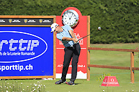 Richard Bland (ENG) tees off the 12th tee during Thursday's Round 1 of the 2017 Omega European Masters held at Golf Club Crans-Sur-Sierre, Crans Montana, Switzerland. 7th September 2017.<br /> Picture: Eoin Clarke | Golffile<br /> <br /> <br /> All photos usage must carry mandatory copyright credit (&copy; Golffile | Eoin Clarke)