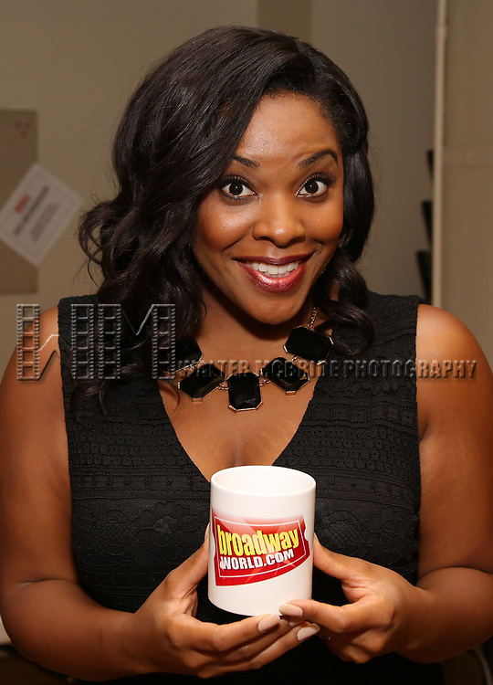 Bryonha Marie Parham attends the Meet & Greet for the Manhattan Theatre Club's Broadway Premiere of 'Prince of Broadway' at the MTC Studios on July 20, 2017 in New York City.