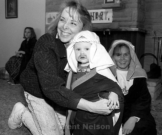Suzanne Nelson, Nelson, Jensen at family Christmas party.<br />