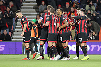 Bournemouth celebrate the second goal of the game for them scored by Steve Cook of Bournemouth during AFC Bournemouth vs Norwich City, Caraboa Cup Football at the Vitality Stadium on 30th October 2018