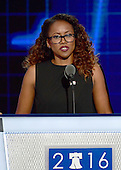 Actress Erika Alexander makes remarks during the second session of the 2016 Democratic National Convention at the Wells Fargo Center in Philadelphia, Pennsylvania on Tuesday, July 26, 2016.<br /> Credit: Ron Sachs / CNP<br /> (RESTRICTION: NO New York or New Jersey Newspapers or newspapers within a 75 mile radius of New York City)