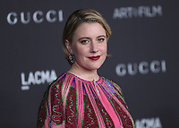 LOS ANGELES - NOVEMBER 2:  Greta Gerwig at the 2019 LACMA Art + Film Gala Presented By Gucci at LACMA on November 2, 2019 in Los Angeles, California. (Photo by PictureGroup)