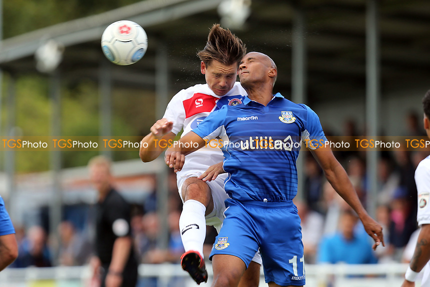 Craig Robson of Dagenham and Chris Zebroski of Eastleigh during Eastleigh vs Dagenham & Redbridge, Vanarama National League Football at the Silverlake Stadium on 12th August 2017