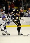 29 December 2007: University of Vermont Catamounts' forward Viktor Stalberg, a Sophomore from Gothenburg, Sweden, in action against the Holy Cross Crusaders at Gutterson Fieldhouse in Burlington, Vermont. The Catamounts rallied in the final seconds of play to tie the game 1-1. After overtime, although the official result remained a tie game, the Cats moved up to the championship round by winning a sudden death shootout in the second game of the Sheraton/TD Banknorth Catamount Cup Tournament...Mandatory Photo Credit: Ed Wolfstein Photo
