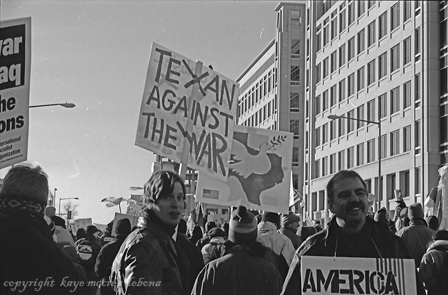 Peace Marches Against War in Iraq Washington DC- January, 2003