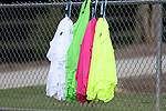 CARY, NC - JUNE 15: Practice pinnies. The North Carolina Courage held a training session on June 15, 2017, at WakeMed Soccer Park Field 7 in Cary, NC.