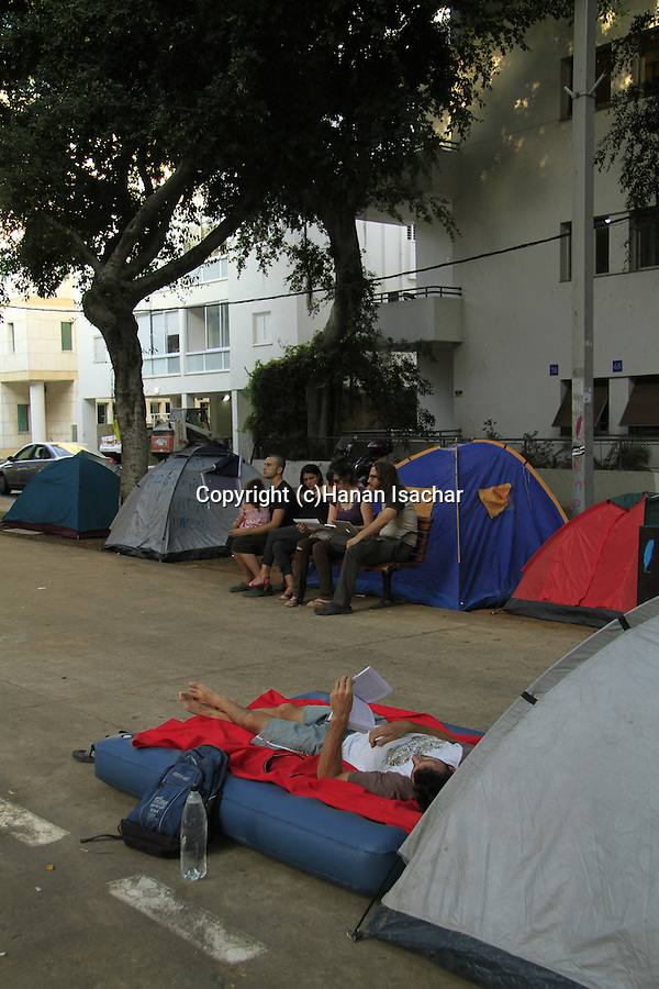 Israel, Tel Aviv, the Housing Protest in Rothschild Avenue