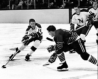 Seals vs Northstars...#14 Parker MacDonald against the Seals. (1967 photo/Ron Riesterer)