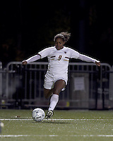 "Boston College forward Natalie Crutchfield (9) crosses the ball. Boston College defeated West Virginia, 4-0, in NCAA tournament ""Sweet 16"" match at Newton Soccer Field, Newton, MA."