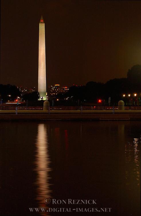 Washington Monument at Night, Capitol Reflecting Pool, National Mall, Washington DC