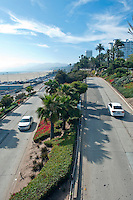 Santa Monica CA, Ocean Ave, Ramp to Pacific Park Pier, Pacific Coast Highway,