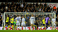 Blackburn Rovers' players celebrate after Charlie Mulgrew scores his second goal<br /> <br /> Photographer Alex Dodd/CameraSport<br /> <br /> The EFL Sky Bet Championship - Leeds United v Blackburn Rovers - Wednesday 26th December 2018 - Elland Road - Leeds<br /> <br /> World Copyright &copy; 2018 CameraSport. All rights reserved. 43 Linden Ave. Countesthorpe. Leicester. England. LE8 5PG - Tel: +44 (0) 116 277 4147 - admin@camerasport.com - www.camerasport.com