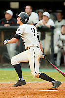Northwest Cabarrus Trojans shortstop Corey Seager #9 follows through on his swing against the Sun Valley Spartans on March 7, 2012 in Kannapolis, North Carolina.  (Brian Westerholt/Four Seam Images)