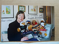 BNPS.co.uk (01202 558833)<br /> Pic: GillSeyfang/BNPS<br /> <br /> A signed photo from Womble creator Elisabeth Beresford<br /> <br /> An environmentalist is selling the world's biggest Womble collection after the famous furry creatures inspired her to save the planet as a child.<br /> <br /> Gill Seyfang, a senior lecturer in Sustainable Consumption at the University of East Anglia, owns over 1,700 items relating the furry creatures.<br /> <br /> Her vast collection ranges from soft toys to rubbish bins and was recognised by the Guinness Book of Records in 2016.<br /> <br /> Ms Seyfang, from Norwich, Norfolk, began amassing the group in the 1970s and it has continued to grow ever since.