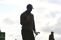 Tiger Woods (USA) walks off the 13th tee during Thursday's Round 1 of the 148th Open Championship, Royal Portrush Golf Club, Portrush, County Antrim, Northern Ireland. 18/07/2019.<br /> Picture Eoin Clarke / Golffile.ie<br /> <br /> All photo usage must carry mandatory copyright credit (© Golffile | Eoin Clarke)