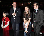 Junah Jang, Anthony Warlow, Amanda Lea La Vergne, Andy Blankenbuehler & Company attending the Broadway Opening Night Performance  Gypsy Robe Ceremony celebrating Merwin Foard recipient  for 'Annie' at the Palace Theatre in New York City on 11/08/2012