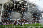 Jamie Vardy of Leicester City celebrates scoring his goal against Aston Villa during the Premier League match at Villa Park, Birmingham. Picture date: 8th December 2019. Picture credit should read: Darren Staples/Sportimage