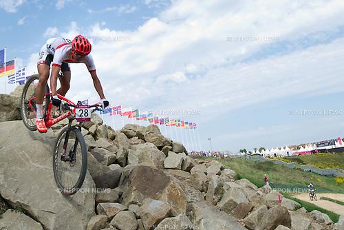 Kohei Yamamoto (JPN), .AUGUST 12, 2012 - Cycling Mountain Bike : .Men's Cross Country Mountain Bike at Hadleigh Farm during the London 2012 Olympic Games in Essex, UK. (Photo by Enrico Calderoni/AFLO SPORT) [0391]