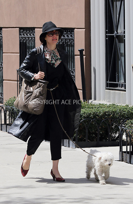 WWW.ACEPIXS.COM<br /> <br /> April 19 2015, New York City<br /> <br /> Actress Parker Posey walks her dog in the East Village on April 19 2015 in New York City<br /> <br /> By Line: Zelig Shaul/ACE Pictures<br /> <br /> <br /> ACE Pictures, Inc.<br /> tel: 646 769 0430<br /> Email: info@acepixs.com<br /> www.acepixs.com