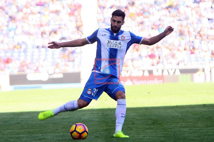 League Santander 2016/2017. Game: 24.<br /> RCD Espanyol vs CA Osasuna: 3-0.<br /> Marc Navarro.