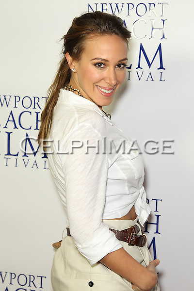 """HAYLIE DUFF. Red Carpet arrivals to the World Premiere of """"Tug,"""" presented on the final evening of the 2010 Newport Beach Film Festival. Newport Beach, CA, USA. April 29, 2010."""