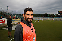 Cary, North Carolina  - Wednesday May 24, 2017: Luis Trinh Nava prior to a regular season National Women's Soccer League (NWSL) match between the North Carolina Courage and the Sky Blue FC at Sahlen's Stadium at WakeMed Soccer Park. The Courage won the game 2-0.