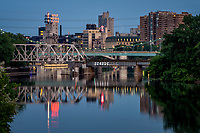 Minneapolis buildings and bridges.