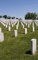 Jefferson Barracks National Cemetery honoring armed veterans in St Louis Missouri