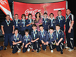 Donacarney under 14 D.S.C.L. Premier League winners with Siobhan Woods from Coca Cola. Photo: Colin Bell/pressphotos.ie